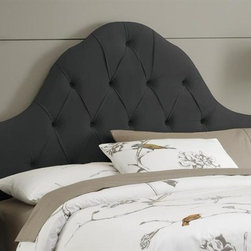 Skyline Furniture - High Arc Tufted Headboard w Foam Padding in V - Choose Size: TwinAdjustable legs. Plush foam padding. Attaches to standard bed frames. Made from 100% polyester. Made in the USA. Minimal assembly required. Twin: 41 in. L x 4 in. W x 58 in. H (24 lbs.). Queen: 62 in. L x 4 in. W x 58 in. H (33 lbs.). King: 78 in. L x 4 in. W x 58 in. H (41 lbs.). California king: 74 in. L x 4 in. W x 58 in. H (36 lbs.)Velvet high arc tufted headboard