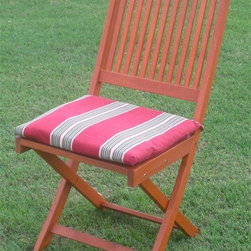 International Caravan - Windsor Solid Wood Folding Outdoor Chair - Se - Set of 2. Easy to carry from place to place. Cushion not included. Complete weatherproof protection and UV light. Made from premium balau hardwood. Assembly required. Stain finish. 24.7 in. L x 21.7 in. D x 36.7 in. H