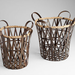 Cyan Design - Crusoe Baskets - Crusoe baskets - rustic