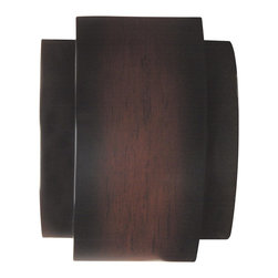 Craftmade - Craftmade CH1902W-DM Wood-look Sconce Door Bell and Wireless Chime - Contemporary curve -;wireless chime