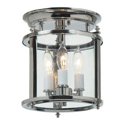 "JVI Designs - JVI Designs 3019 Murray Hill 3 Light 8"" x 9.5"" Flush Mount Ceiling Fixture - Features:"