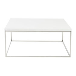 Euro Style - Euro Style Teresa Square Coffee Table X-THW00890 - There's plain and there's perfect. This collection of 4 Teresa table designs are not only perfectly designed for strength and timeless style, they work beautifully together. Go for the group!