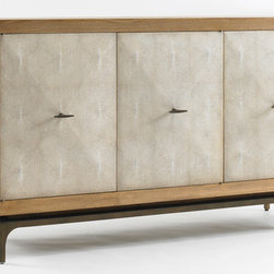 Louis J Solomon 3-Door Buffet with Faux Shagreen Doors - BUF-3732