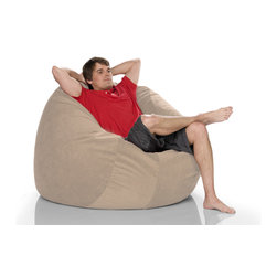 Jaxx Sac 4' Bean Bag Chair - Experience ultimate comfort with this Jaxx Sac 4' Bean Bag Chair. This very durable, colorful BEan Ba Chair from Jaxx it is safe for indoors or outdoors use, perfect for chilling out by the pool, beach, home patio, or just in your living room. All of the Jaxx Bean Bags are filled with 100% recycled/shredded furniture grade urethane foam and covered in lush micro-suede covers that zip off easily for machine washing. Underneath, a protective liner with childproof zipper keeps the foam contents out of reach. Soft, luxurious furniture grade fabric cover that can be easily washed in a machine.
