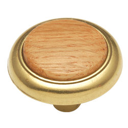 Hickory Hardware - Hickory Hardware 1-1/4 In. Wood grain Oak Cabinet Knob - Bridges contemporary and traditional design.  Offering a deep rooted sense of history in some, with an updated feel and cleaner lines.  Crate & Barrel and Pottery Barn could be considered transitional looks.