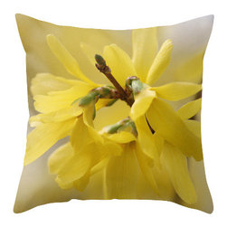 """BACK to BASICS - Yellow Beauty Spring Pillow Cover, 20x20 - Throw Pillow Cover made from 100% spun polyester poplin fabric, a stylish statement that will liven up any room. Individually cut and sewn by hand, the pillow cover measures 16"""" x 16"""", 18"""" x 18"""" or 20"""" x 20"""" depending on the size you choose, features a double-sided print and is finished with a concealed zipper for ease of care."""