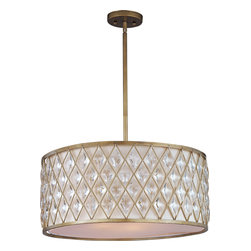 Maxim Lighting - Maxim Lighting 21457OFGS Diamond 4-Light Pendant - Maxim Lighting 21457OFGS Diamond 4-Light Pendant