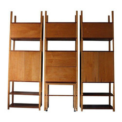 Custom Walnut and Oak Modern Modular Wall Unit - $4,000 Est. Retail - $1,899 on -