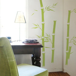 Blik - Blik Bamboo Wall Stickers - Blik bamboo wall stickers are sure to spruce up any space with a little organic twist. Perfect for the room. Just peel and stick and your done.... All our wall stickers are easy to remove so they are perfect for apartments! Includes: