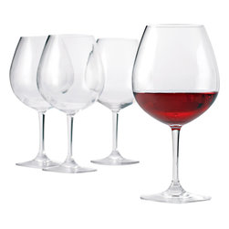 Wine Enthusiast - Wine Enthusiast Break-Free PolyCarb Pinot Noir Wine Glasses - Wineglasses that have the look of fine crystal but are unbreakable? Simply brilliant! These pinot noir vessels are made of polycarbonate, which means you never have to worry about a broken glass ever again. They're dishwasher safe and perfect for both indoor and outdoor entertaining.