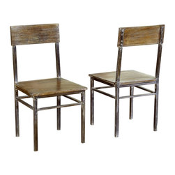Modus Furniture - Modus Farmhouse Dining Chair with Oxidized Finish [Set of 2] - Simplicity, function and fine craftsmanship are the hallmarks of classic farmhouse style. With our Farmhouse dining collection we not only honor, but build on these qualities.