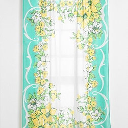 Plum & Bow Floral Hanky Curtain - I love the vintage vibe of these floral hanky-inspired curtains. They have such a delicate and beautiful look about them that would surely add charm to any room.