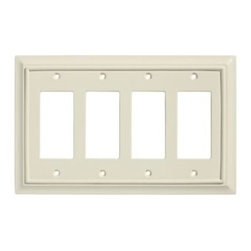 Liberty Hardware - Liberty Hardware 126452 Wood Architectural WP Collect 5.51 Inch Switch Plate - L - A simple change can make a huge impact on the look and feel of any room. Change out your old wall plates and give any room a brand new feel. Experience the look of a quality Liberty Hardware wall plate.. Width - 5.51 Inch,Height - 8.8 Inch,Projection - 0.4 Inch,Finish - Light Almond,Weight - 0.22 Lbs