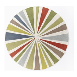 Lourdes Sánchez Wool Bull's-Eye Rug, Round - I'm kind of obsessed with all things round these days. Round coffee tables, round ottomans and this round rug. The shape, size and colors would make a profound impact in my baby's rectangular nursery.