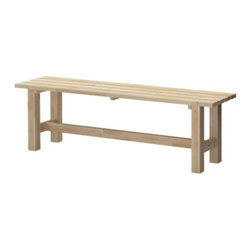 Mikael Warnhammar - Norden Bench - Leave it to Ikea to design a wood bench that will work anywhere — and comes in at less than $100. I'd put this in my mud room to make it easier to take shoes off by the door.