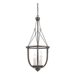 Savoy House Lighting - Savoy House Lighting 3-6002-5-285 Epoque 5 Light Foyer Pendants - From the Epoque collection, this three-light pendant is industrial chic with wire suspension cables and a textured antique nickel finish.