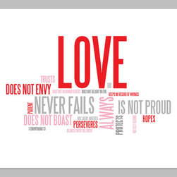 Wall Art Print, 1 Corinthians 13 by Red Letter Paper Co. - I love word art, and adding a print like this to a wall collage would be a fun way to mix in a little modern style.