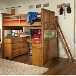 Timber Lodge Basic Loft Bed - Dimensions: Twin loft bed: 104L x 45W x 76H inches Full loft bed: 104L x 60W x 76H inches Storage steps optional: 40L x 22W x 71H inches About Legacy Classic FurnitureCommitted to offering the best of today's youth-bedroom styles for the young and young at heart Legacy Classic Furniture offers a wide selection of best selling designs and finishes with a large variety of beds and storage and study options. Dedicated to providing outstanding quality at reasonable prices Legacy Classic Furniture employs quality materials proven construction techniques and the highest safety standards to manufacture exceptional products that are built to last a lifetime.