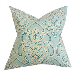 The Pillow Collection - Yonah Baby Blue 18 x 18 Floral Throw Pillow - - Pillows have hidden zippers for easy removal and cleaning  - Reversible pillow with same fabric on both sides  - Comes standard with a 5/95 feather blend pillow insert  - All four sides have a clean knife-edge finish  - Pillow insert is 19 x 19 to ensure a tight and generous fit  - Cover and insert made in the USA  - Spot clean and Dry cleaning recommended  - Fill Material: 5/95 down feather blend The Pillow Collection - P18-D-WILLIAM-BABYBLUE-C95L5