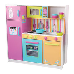 "KidKraft - Kidkraft Deluxe Big And Bright Kids Fun Cooking Wooden Kitchen - Kids will feel just like mom and dad when they cook up fun with the Deluxe Big and Bright Kitchen. This wooden kitchen is cute, colorful and built to last. Dimension: 42.25""Lx 15.5""Wx 43.13""H"