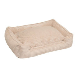 Jax & Bones - Jax & Bones Corduroy Lounge Bed Sand Small - With removable inserts and zippers, these corduroy lounge beds are easy to maintain and care for. They are amazingly comfortable and cozy, making them ideal for your pet to rest in. these beds are perfect for those pets which need some warmth and reassurance in their lives. The beautiful colors offered in these beds will not fade after washing and are extremely durable.   100% Machine Washable and Certified Eco-Friendly!