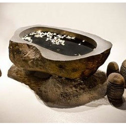7ft Volcanic Rock Tub - 7.5ft Hand Carved Volcanic Bathtub available to Order