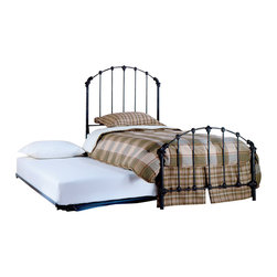 Hillsdale - Hillsdale Bonita Twin Metal Panel Bed with Roll-Out Trundle - Hillsdale - Beds - 346BTWHTR - in a classic cottage mode the Bonita features a timelessly stylish silhouette that will remain in vogue for years to come. The Bonita possesses charming detailed castings and an arched design that reflects a tranquil tradition.