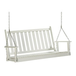 Home Decorators Collection - Classic Porch Swing - Porch swings are so classic and, yes, a bit Southern too. My grandma had one on her porch when I was growing up, and I have one my dad built just waiting to claim the perfect spot on my porch. Oh, the memories!