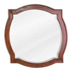 Hardware Resources - Lyn Design MIR080 Wood Mirror - At first glance, this mirror may look like it has devil horns. Have no fear — it'll look devilishly good on your wall. Might even inspire a little mischief with your home decor.