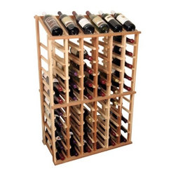 Wine Cellar - Designer Series 66 Bottle Wine Rack - The Designer Collection wine rack offers the ultimate blend of quality, cost, and craftsmanship. Wine Cellar Innovations has utilized the best portions of their custom amenities and mixed in the affordability of a mass produced item to offer you the best value for your storage dollar. Features: -Bottle Capacity: Stores 66 bottles including the 6 displayed on top.-Each bottle is cradled on two rails that are cut with beveled ends and rounded edges.-Designed to ensures wine labels will not tear when bottles are removed.-Most popularly wine rack requested to fit underneath an archway.-Display row on top for those wishing to forego a table top option.-Ideal for individuals wanting to display their more valuable wines in an attractive manner.-Can be used alone or in a wine rack kit.-Designer Series collection.-Collection: Designer Series.-Distressed: No.Specifications: -Wine rack is 6 columns wide x 10 rows high.Dimensions: -Dimensions: 42.25'' H x 27.69'' W x 13.5'' D.