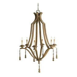 Currey and Company - Currey and Company CNC-9798 Simplicity Traditional Chandelier - Large - Clean lines in a classic form make this chandelier a real standout in any setting. A simple handsome shape embellished with just the right amount of decorative trim results in an outstanding design. The wood that makes up this chandelier is given a Washed Wood finish that is totally in keeping with the design and materials used.