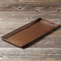 Copper Dog Bowl Tray - What a lovely copper tray for food and water bowls!