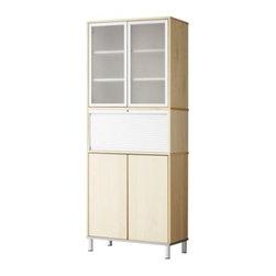IKEA of Sweden/K Malmvall/E Lilja-Löwenhielm - EFFEKTIV Storage combination with doors - Storage combination with doors, birch veneer, glass