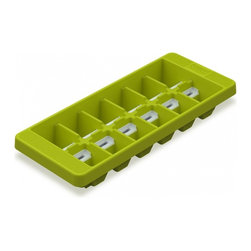 Joseph Joseph - QuickSnap Ice Tray, Green - Fill QuickSnap with water just like a conventional ice tray. When ice is needed, simply twist the tray to loosen the cubes and then push each switch on the reverse, in the direction of the arrow, to release one ice cube at a time  effectively snapping each out of its individual compartment. With QuickSnap you only release the amount of ice cubes you really need, whilst the rest remain secure in the tray and can be placed back in the freezer. Dishwasher Safe.