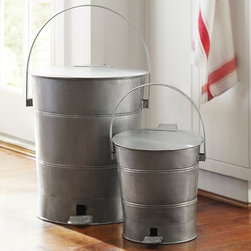 Trash Can - With a vintage milk pail vibe, this step can covers all the bases in style and function.