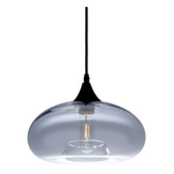 Bonita Light Pendant in Gray Tint - Illuminate any space with the Bonita Light Pendant. Hang it over a reading chair, in the foyer, or pair it with a couple more over your dinner table. Its smoky-gray glass creates just the right ambiance for a nice evening in for two or just you, and the included Edison bulb is the perfect finishing touch.