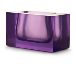 Purple Bel Air Gorge Vase - Chunky, bright and unique, this vase would look so pretty on a console or sideboard.