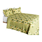 Blancho Bedding - Gemini 3PC Cotton Contained Patchwork Quilt Set  Full/Queen Size - Set includes a quilt and two quilted shams (one in twin set). Shell and fill are 100% cotton. For convenience, all bedding components are machine washable on cold in the gentle cycle and can be dried on low heat and will last you years. Intricate vermicelli quilting provides a rich surface texture. This vermicelli-quilted quilt set will refresh your bedroom decor instantly, create a cozy and inviting atmosphere and is sure to transform the look of your bedroom or guest room. Dimensions: Full/Queen quilt: 90 inches x 98 inches  Standard sham: 20 inches x 26 inches.
