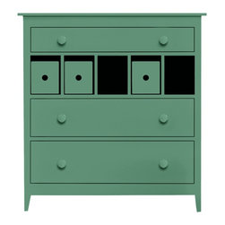 "Amelia Basic Dresser - We've yet to hear someone say ""I have too much storage."" The Amelia Basic Dresser is decked out with three spacious drawers and cut outs to fill with our cute Cubby Boxes or dividers - this makes the Amelia an all time favorite. Available in an amazing array of Maine Cottage® coastal color choices."