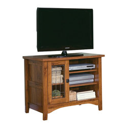 Sauder - Sauder Rose Valley Entertainment Stand in Abbey Oak - Sauder - TV Stands - 406840 -