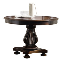 "Hooker Furniture - Hooker Furniture Eastridge 44in. Round Pedestal Dining Table - Crafted using hardwood solids and cherry veneers the majestic beauty of the Eastridge collection is sure to please. Hardwood Solids and Cherry Veneers with Resin. Dimensions: 44""W x 44""D x 30.25""H."