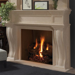 Dartmouth Stone Fireplace Mantel - The Dartmouth stone fireplace mantel is an elegant addition to any room in your home. Its clean, simple lines are incredibly beautiful without being overpowering. Available in a variety of finishes and colors, the Dartmouth can easily be integrated into your existing design or in new construction. - Mantels Direct