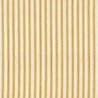 "Close to Custom Linens - 15"" Bed Skirt Gathered Yellow Ticking Stripe - Adding flounces and finishing touches to the top of the bed is sort of skirting the issue. In order to complete the look, you really need a bed skirt, and the more versatile the better. That's where this gathered bed skirt comes in. It has a simple vintage ticking stripe, so you can change your other bedroom prints to your heart's content, and it will all look fabulous."