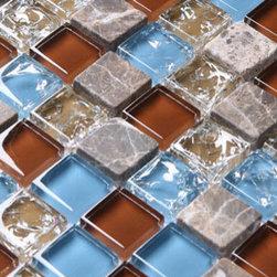 2013 New glass stone metal blend mosaic tile for kitchen backsplash STG0084 - Collection: Stone Glass Mosaic