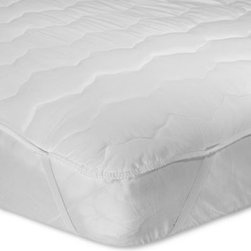 Hollander Sleep Prod. Kentucky Llc - Water Bed 100% Cotton Mattress Pad - This hypoallergenic mattress pad with an anchor band is a luxuriously soft cover for your water bed. Cover is 100% cotton and has a 200 thread count.