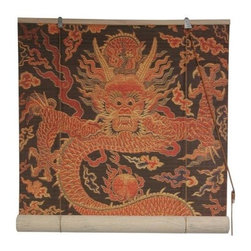 Oriental Unlimted - Dragon Design Bamboo Blinds (72 in.) - Choose Size: 72 in.Feature a colorful Dragon design. Easy to hang and operate. 24 in. W x 72 in. H. 36 in. W x 72 in. H. 48 in. W x 72 in. H. 60 in. W x 72 in. H. 72 in. W x 72 in. H