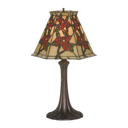 Meyda Tiffany - Meyda Tiffany 81620 Asian Single Light Up Lighting Table Lamp Oriental - *Single light up lighting table lamp featuring a tiffany glass shade