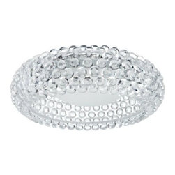 Halo Acrylic Crystal Flush Mount Ceiling Light - 25.5W in. Clear - Add sophistication and light to your office or home with the Halo Acrylic Crystal Semi-Flush Mount Ceiling Light - 25.5W in. Clear. This generously sized light mounts flush to the ceiling to create a designer impact in smaller spaces. It has a circular clear acrylic shade accented by 3D acrylic crystal bubbles that everyone will love.About East End ImportsEast End Imports is based in New York City. They design and manufacture modern furniture and lighting that has an elegant, exciting, look that doesn't go out of style. East End Imports offers high-quality, innovative furniture at an affordable price. Their seating options, lounge furniture, and lighting are just right for the modern office, home bar, outdoor living space, or contemporary home. Quality construction and superb design make each piece a style statement of which you'll never tire.