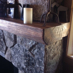 California white oak mantel - The custom mantel below was another recent project we completed for a lakefront in Tahoe City, CA. We used all California white oak that was dried in our new Nyle dehumidification kiln.