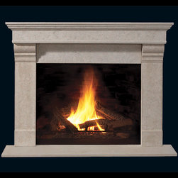 Harrison Stone Fireplace Mantel - Part of our accessible builder's series, the Harrison stone fireplace mantel is a contemporary piece that will fit right into any living room. Perfect for DIYers, it's easy installation and lightweight frame is a great weekend project.